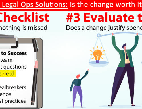 Evaluating Legal Ops Solutions: Evaluate Needs