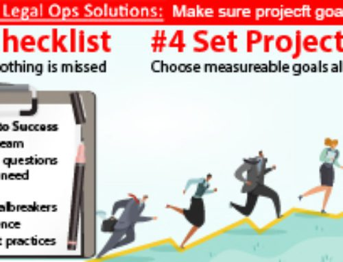Evaluating Legal Ops Solutions: 4th, Set Goals