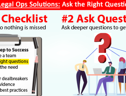 Evaluating Legal Ops Solutions: Second, Ask Questions