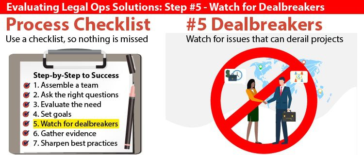Evaluating-Legal-Ops-Solutions_Step#5_Watch-for-Dealbreakers-doeLEGAL-Feature