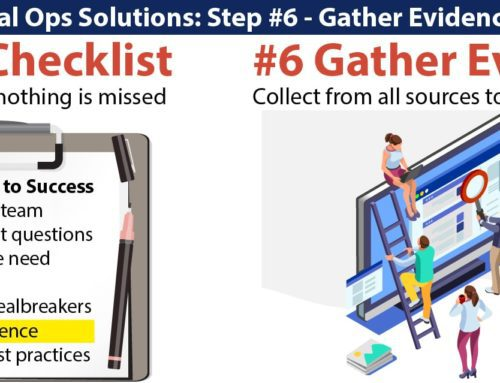 Evaluating Legal Ops Solutions: 6th, Gather Evidence